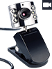 Somikon USB-VGA Webcam mit LED-Licht Somikon Webcams