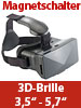 auvisio Virtual-Reality-Brille VRB80.3D (Versandrückläufer) auvisio Virtual-Reality-Brillen für Smartphones