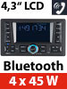 Creasono 2-DIN-MP3-Autoradio CAS-4380.bt mit RDS, Bluetooth (refurbished) Creasono 2 DIN Autoradios