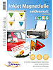Your Design 5 Inkjet-Magnetfolien A4 matt/weiß Your Design Magnet Druck-Folien