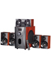auvisio Home-Theater Surround-Sound-System 5.1, 160 Watt, MP3/Radio, Holzoptik auvisio 5.1 Sourround Lautsprecher System