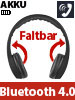 PEARL Faltbares On-Ear-Headset mit Bluetooth 4.0 und Audio-Eingang, schwarz PEARL Faltbare On-Ear-Headsets mit Bluetooth