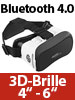 auvisio Virtual-Reality-Brille V6 mit Bluetooth, Magnetschalter, 42-mm-Linsen auvisio Virtual Reality Brillen für Smartphones