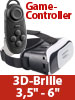 auvisio Virtual-Reality-Brille VRB58.3D und Mini-Game-Controller mit Bluetooth auvisio Virtual-Reality-Brillen für Smartphones