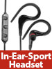 auvisio In-Ear-Sport-Headset m. Bluetooth 4.1, Multipoint & Kabelfernbedienung auvisio In-Ear-Stereo-Headsets mit Bluetooth