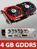 MSI Grafikkarte GeForce GTX 1050 Ti Gaming X, DP/HDMI/DVI, 4 GB GDDR5 MSI Grafikkarten