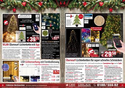 Hängende Lichterkette Innen 200 LED´s 24h Zeitschaltuhr Weihnachten Tannenbaum