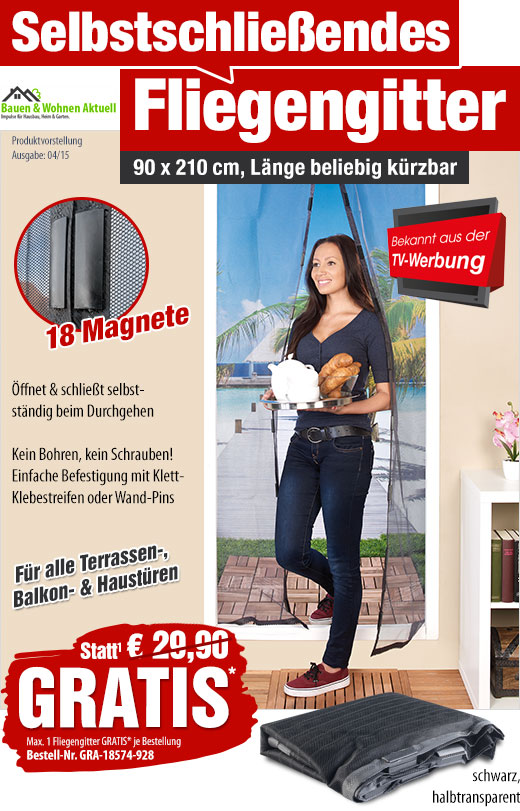gratis statt 29 90 eur t r fliegennetz mit. Black Bedroom Furniture Sets. Home Design Ideas